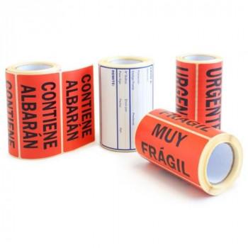 Etiquetas adhesivas rollo 82 x 108 mm. Envío