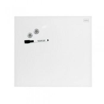 Pizarra NOBO DIAMOND magnética cristal blanco 300x300 mm (envase retail)