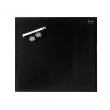 Pizarra NOBO DIAMOND magnética cristal negro 450x450 mm (envase retail)