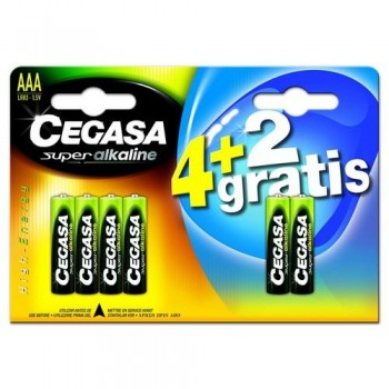 Pila Super Alkalina AAA 4 + 2 pilas de regalo