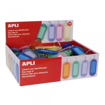 Llavero de colores translúcidos 100u surtido Apli