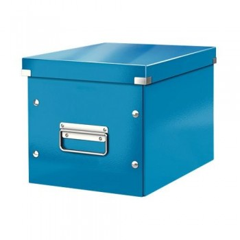 Caja Click & Store cúbica Mediana (265x265x250 mm) azul