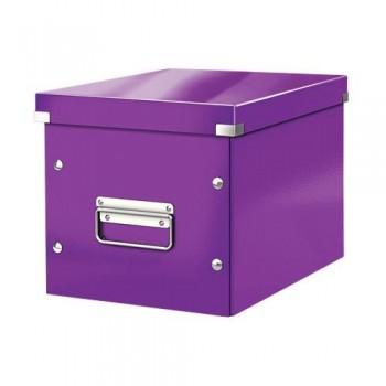 Caja Click & Store cúbica Mediana (265x265x250 mm) violeta