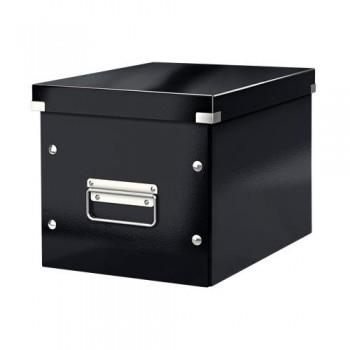 Caja Click & Store cúbica Mediana (265x265x250 mm) negro