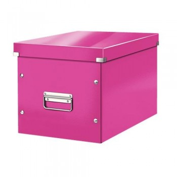 Caja Click & Store cúbica Grande (320x360x310 mm) fucsia