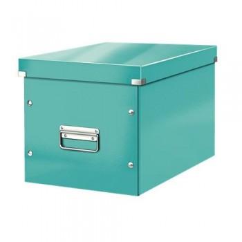 Caja Click & Store cúbica Grande (320x360x310 mm) turquesa