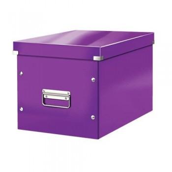 Caja Click & Store cúbica Grande (320x360x310 mm) violeta