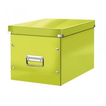 Caja Click & Store cúbica Grande (320x360x310 mm) verde