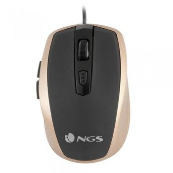 Ratón óptico con cable USB 800DPI ORO NGS TICK