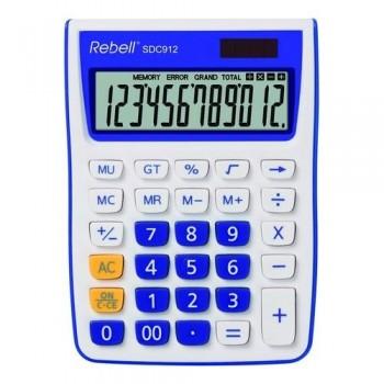Calculadora sobremesa 12 dígt.145 x 104 x 26 mm C/ azul.