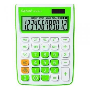 Calculadora sobremesa 12 dígt.145 x 104 x 26 mm C/ verde.