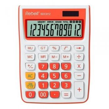 Calculadora sobremesa 12 dígt.145 x 104 x 26 mm C/ naranja.