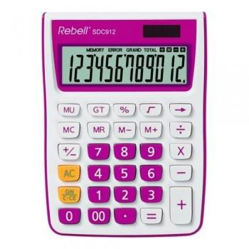 Calculadora sobremesa 12 dígt.145 x 104 x 26 mm C/ rosa.