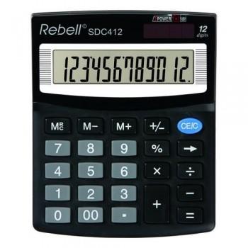 Calculadora sobremesa 12 dígit. 125 x 100 x 27 mm