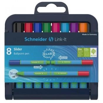 Bolígrafo Slider 8 colores Link-It Schneider