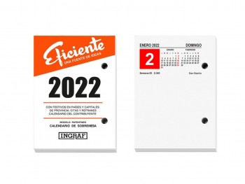 Taco calendario sobremesa BLOC BUFFET EFICIENTE Castellano Ingraf