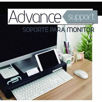 Soporte monitor negro Advance Support Office Box