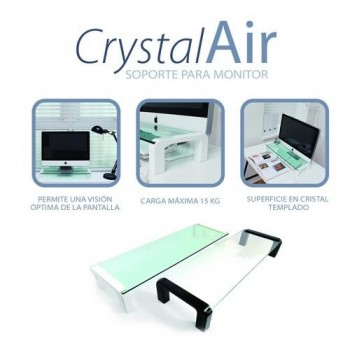 Soporte monitor negro CrystalAir Office Box