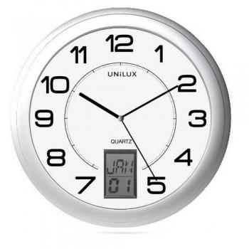 Reloj pared gris metalizado Instinct Unilux