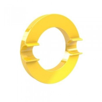 IMAN DECORATIVO XL AMARILLO 80mm MEGA MAGNET CIRCLE XL