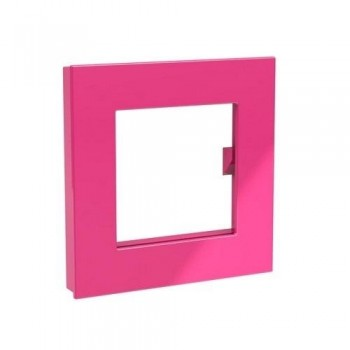 IMAN DECORATIVO XL ROSA 75x75mm MEGA MAGNET SQUARE XL