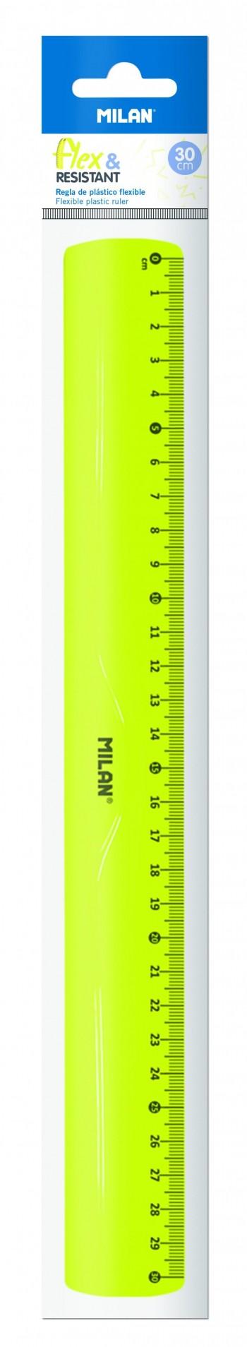REGLA 30cm FLEXIBLE MILAN AMARILLA REF. 353801Y