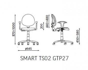 SILLA GIR. SMART WHITE C/BRAZ. GTP27 TS02 LUCIA