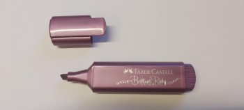 ROT. FLUORESCENTE TEXTLINER METAL RUBI FABER CASTELL R.154691